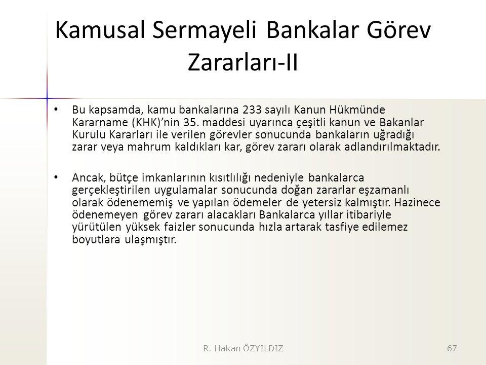 Kamusal Sermayeli Bankalar Görev Zararları-II