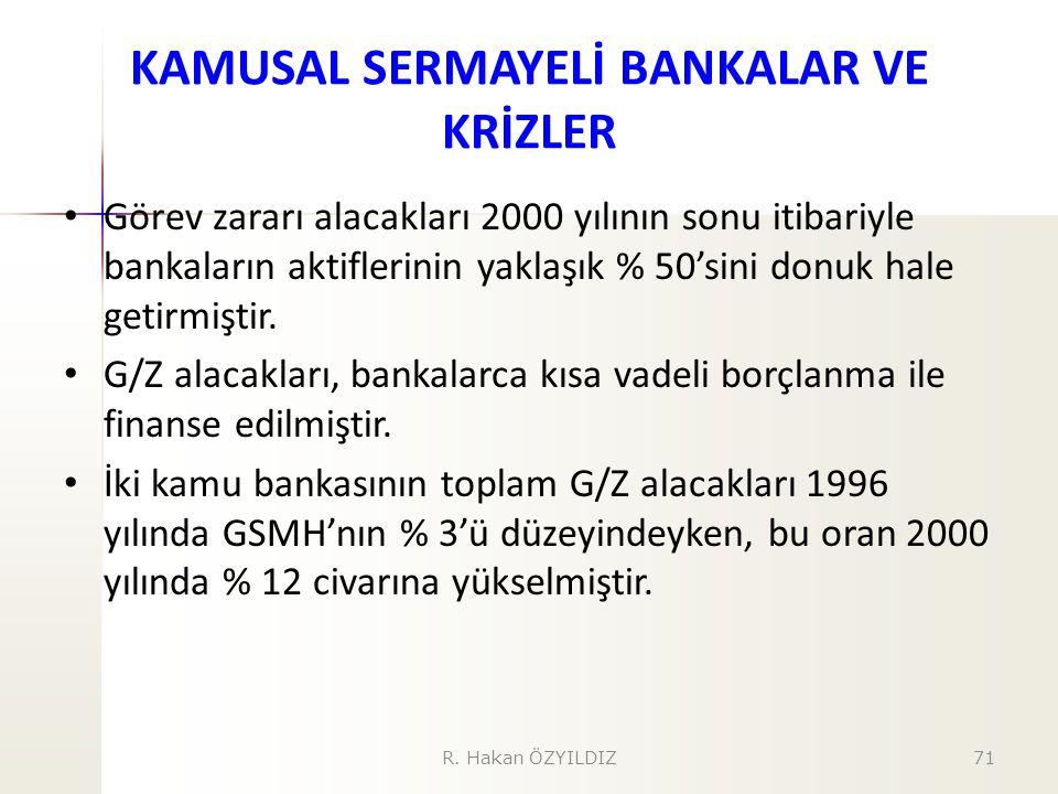 KAMUSAL SERMAYELİ BANKALAR VE KRİZLER