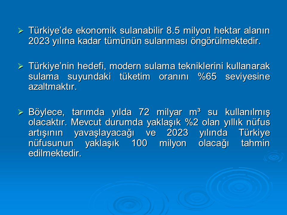 Türkiye'de ekonomik sulanabilir 8
