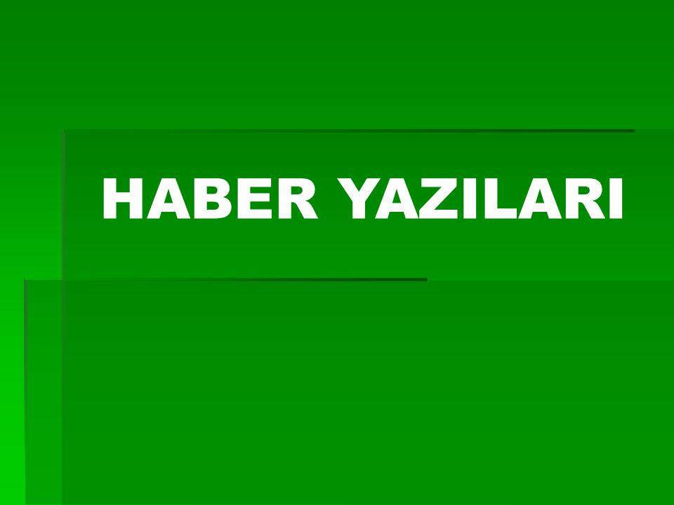 HABER YAZILARI