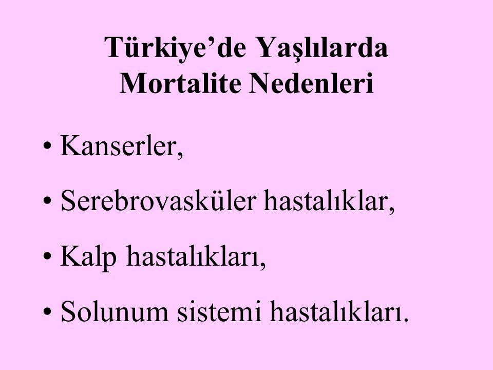 Türkiye'de Yaşlılarda Mortalite Nedenleri