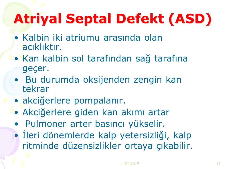 Atriyal Septal Defekt (ASD)