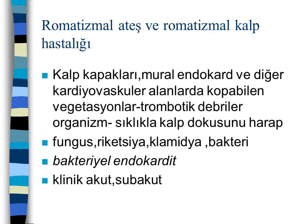 Romatizmal ateş ve romatizmal kalp hastalığı