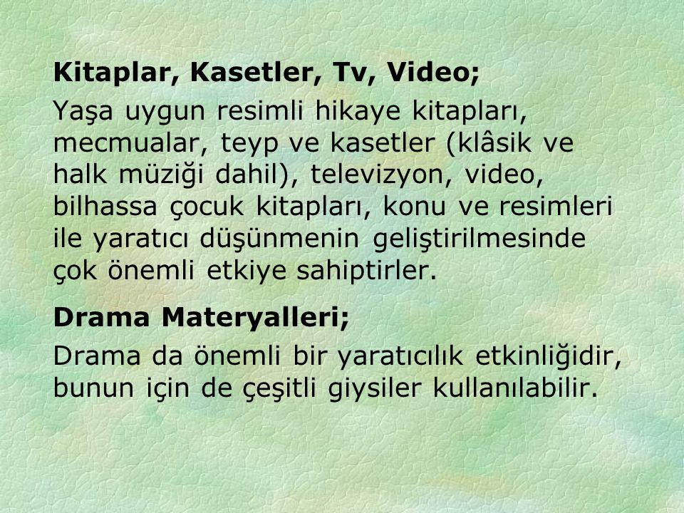Kitaplar, Kasetler, Tv, Video;
