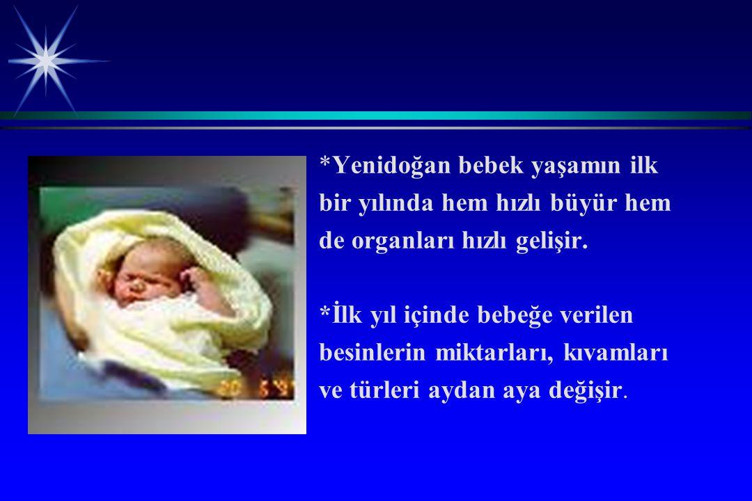 *Yenidoğan bebek yaşamın ilk