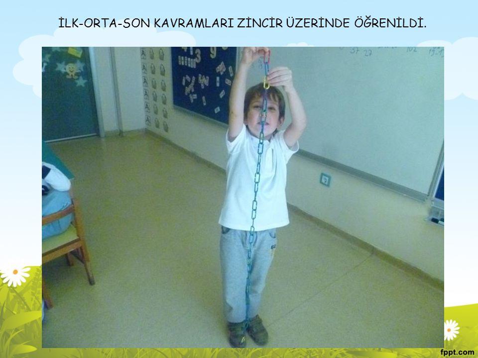 İLK-ORTA-SON KAVRAMLARI ZİNCİR ÜZERİNDE ÖĞRENİLDİ.