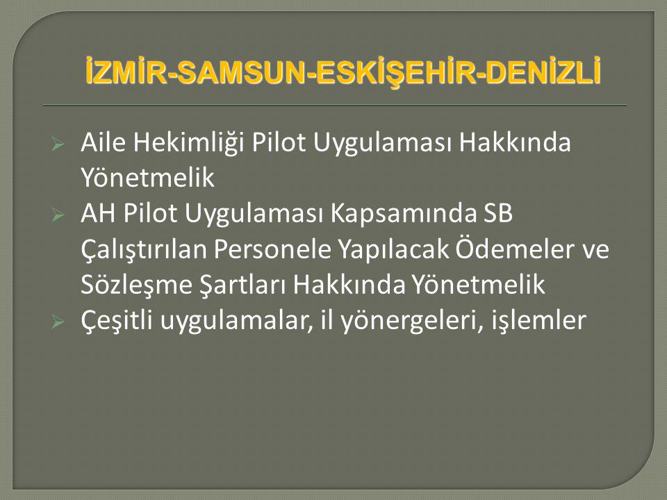 İZMİR-SAMSUN-ESKİŞEHİR-DENİZLİ