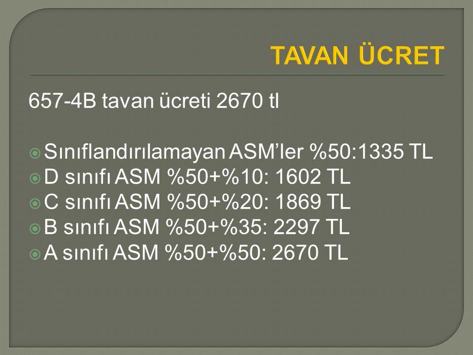TAVAN ÜCRET 657-4B tavan ücreti 2670 tl