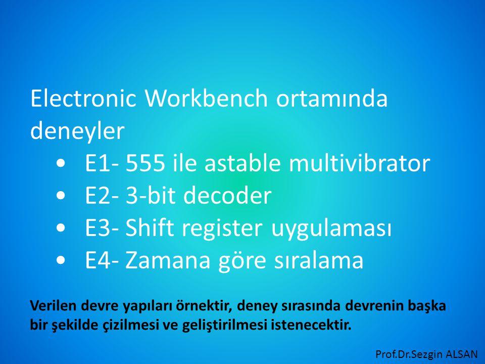 Electronic Workbench ortamında deneyler