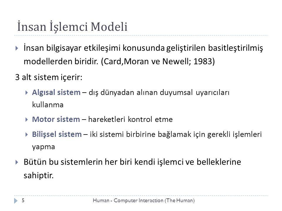 İnsan İşlemci Modeli İnsan bilgisayar etkileşimi konusunda geliştirilen basitleştirilmiş modellerden biridir. (Card,Moran ve Newell; 1983)