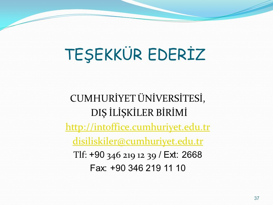 CUMHURİYET ÜNİVERSİTESİ,