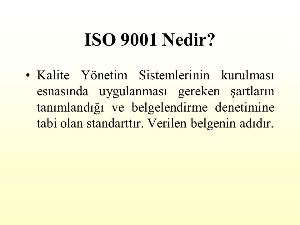 ISO 9001 Nedir