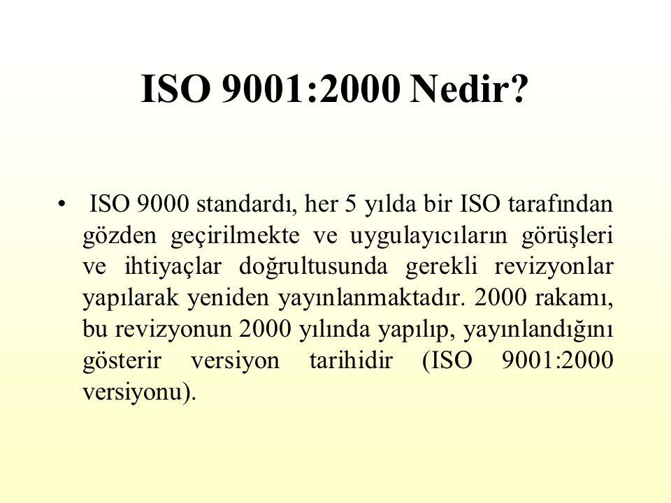 ISO 9001:2000 Nedir