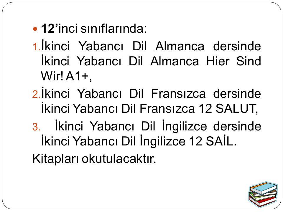12'inci sınıflarında: İkinci Yabancı Dil Almanca dersinde İkinci Yabancı Dil Almanca Hier Sind Wir! A1+,