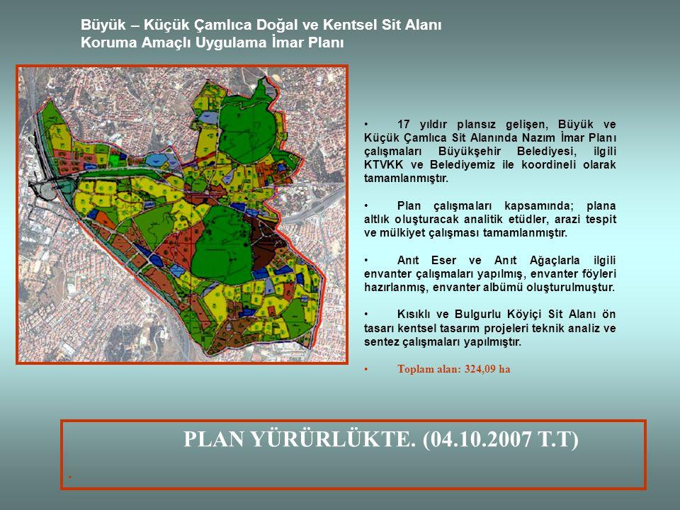 Büyük – Küçük Çamlıca Doğal ve Kentsel Sit Alanı Koruma Amaçlı Uygulama İmar Planı