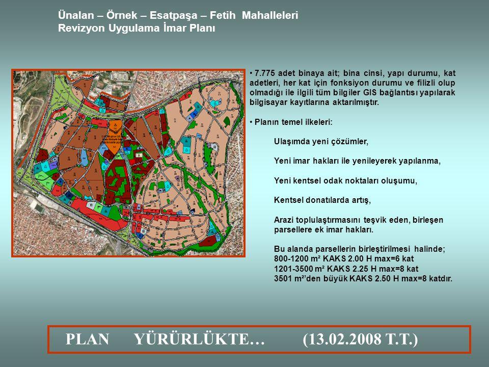 Ünalan – Örnek – Esatpaşa – Fetih Mahalleleri Revizyon Uygulama İmar Planı