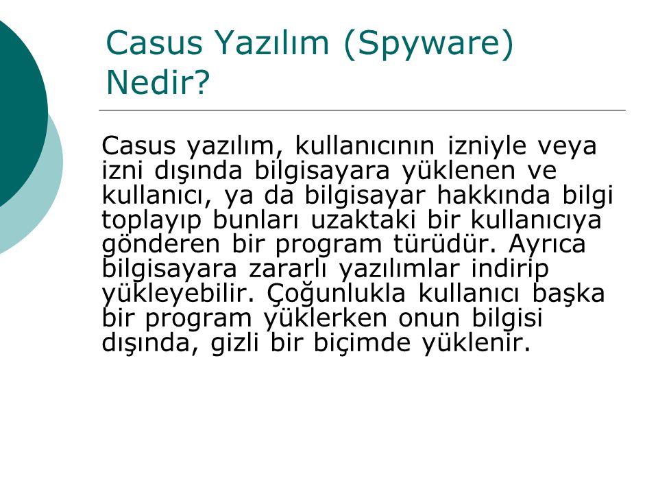 Casus Yazılım (Spyware) Nedir