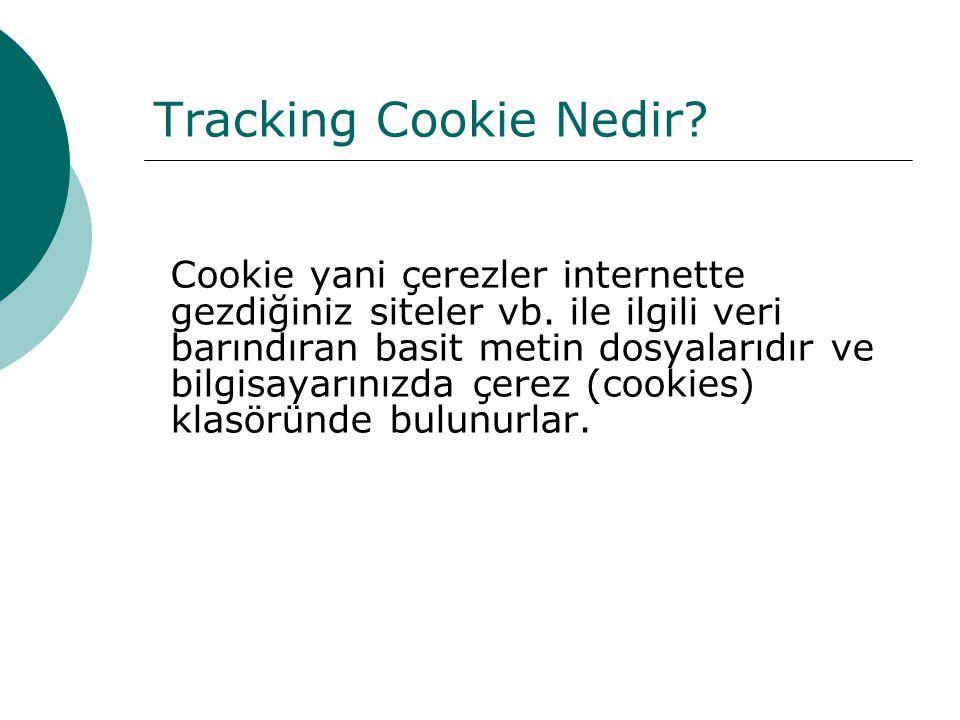 Tracking Cookie Nedir