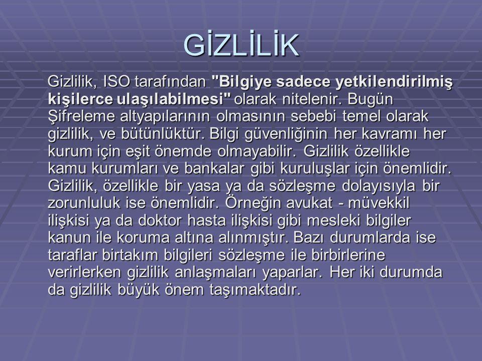 GİZLİLİK