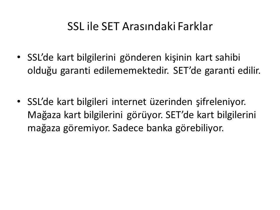 SSL ile SET Arasındaki Farklar