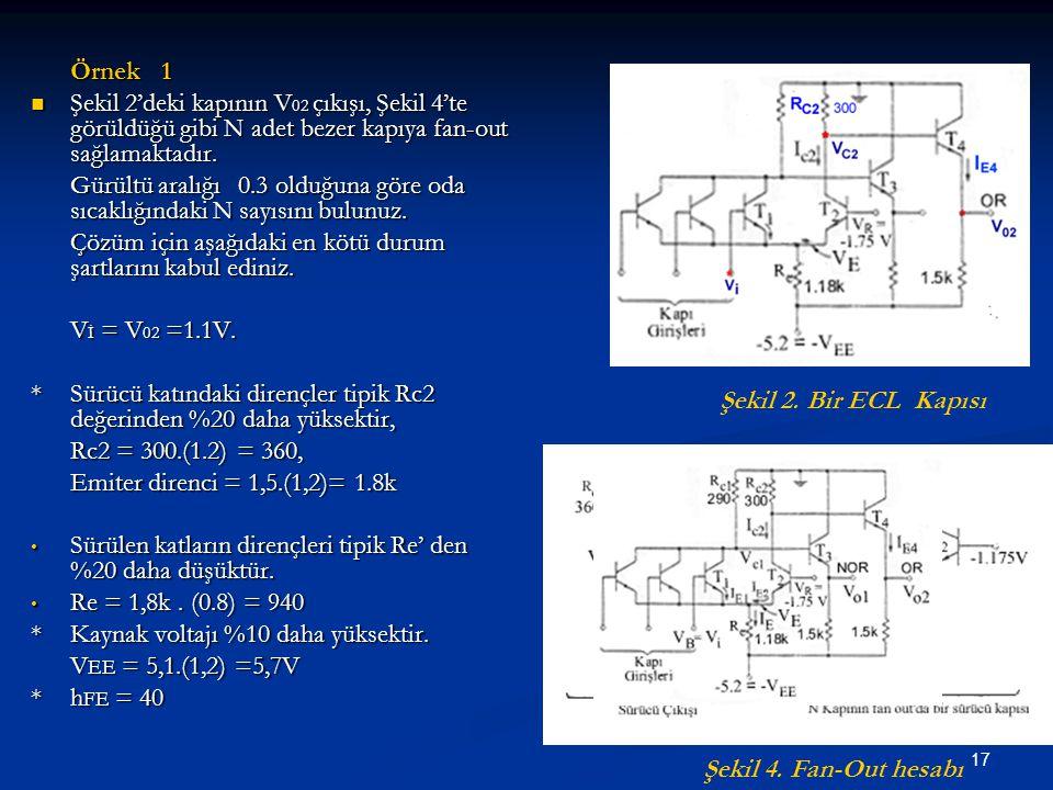 Örnek 1 Şekil 2'deki kapının V02 çıkışı, Şekil 4'te görüldüğü gibi N adet bezer kapıya fan-out sağlamaktadır.