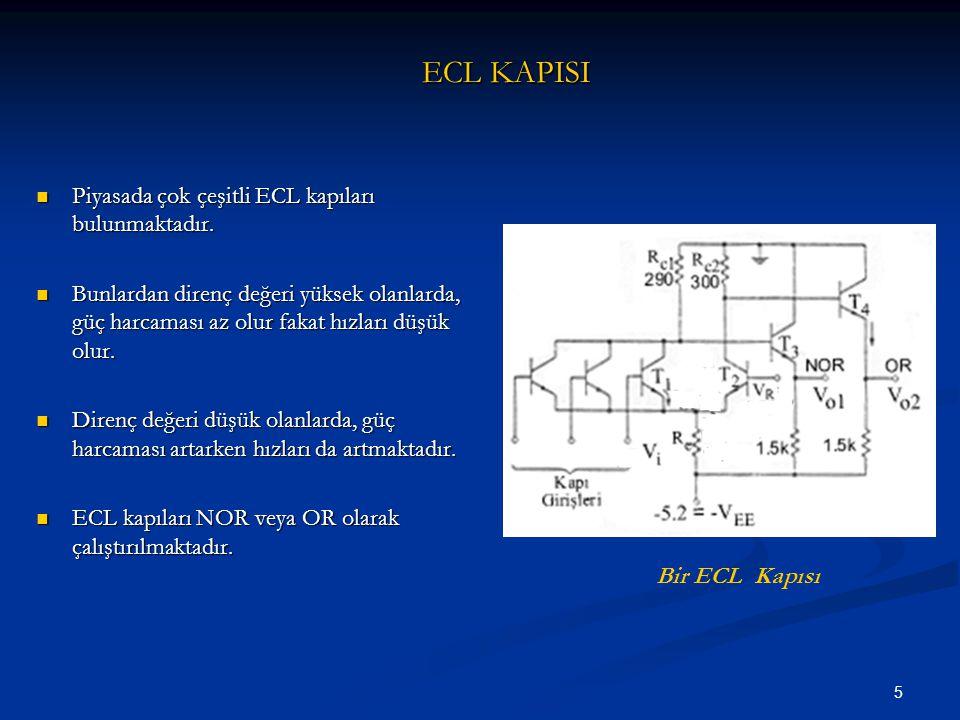 ECL KAPISI Piyasada çok çeşitli ECL kapıları bulunmaktadır.