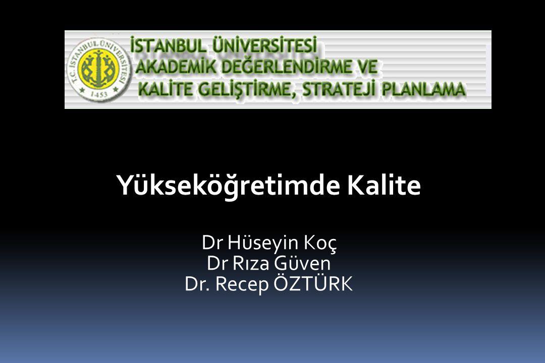 Yükseköğretimde Kalite