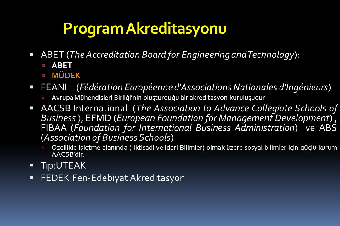 Program Akreditasyonu