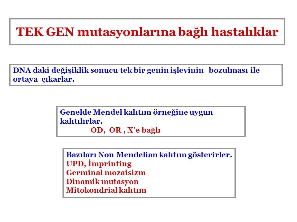 TEK GEN mutasyonlarına bağlı hastalıklar