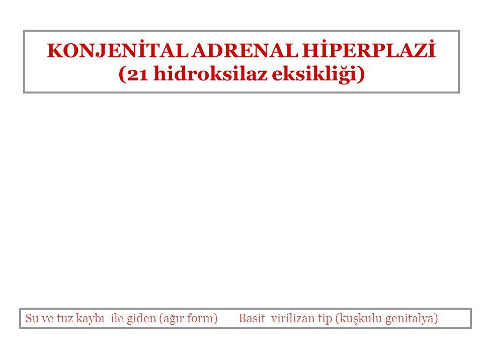 KONJENİTAL ADRENAL HİPERPLAZİ (21 hidroksilaz eksikliği)