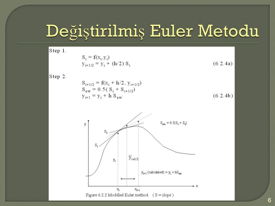Değiştirilmiş Euler Metodu