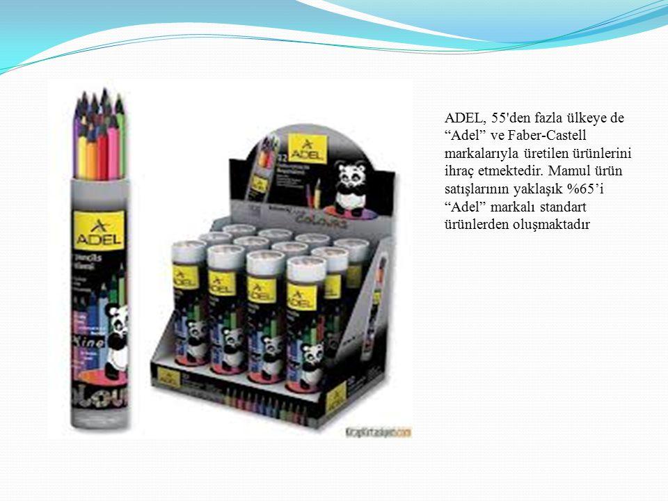 ADEL, 55 den fazla ülkeye de Adel ve Faber-Castell markalarıyla üretilen ürünlerini ihraç etmektedir.