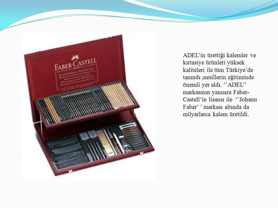 ADEL'in ürettiği kalemler ve kırtasiye ürünleri yüksek kaliteleri ile tüm Türkiye'de tanındı ,nesillerin eğitiminde önemli yer aldı.