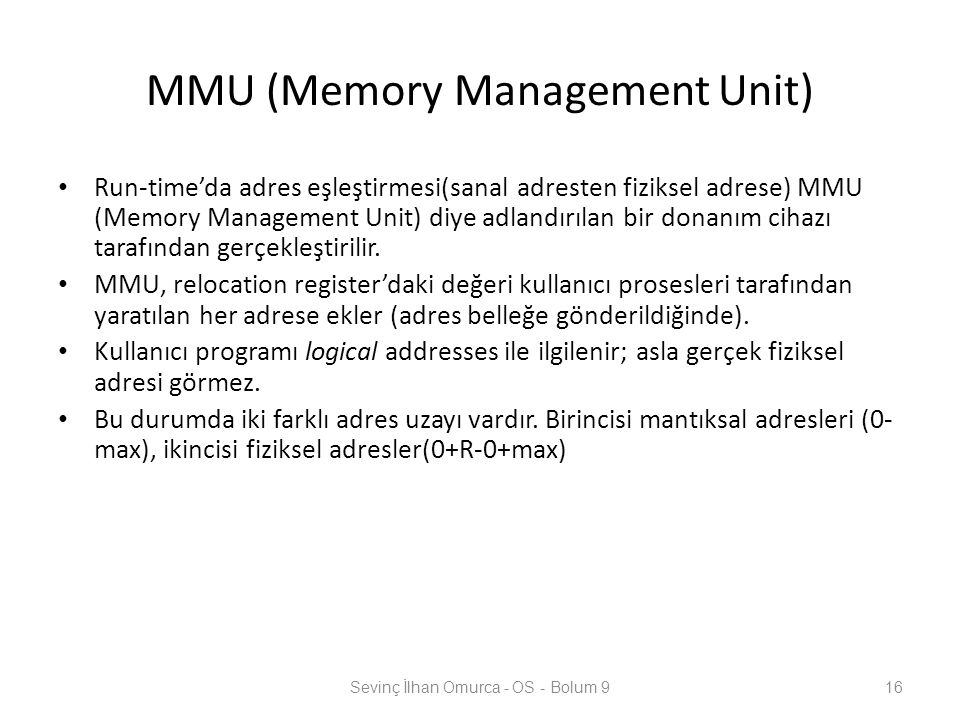 MMU (Memory Management Unit)
