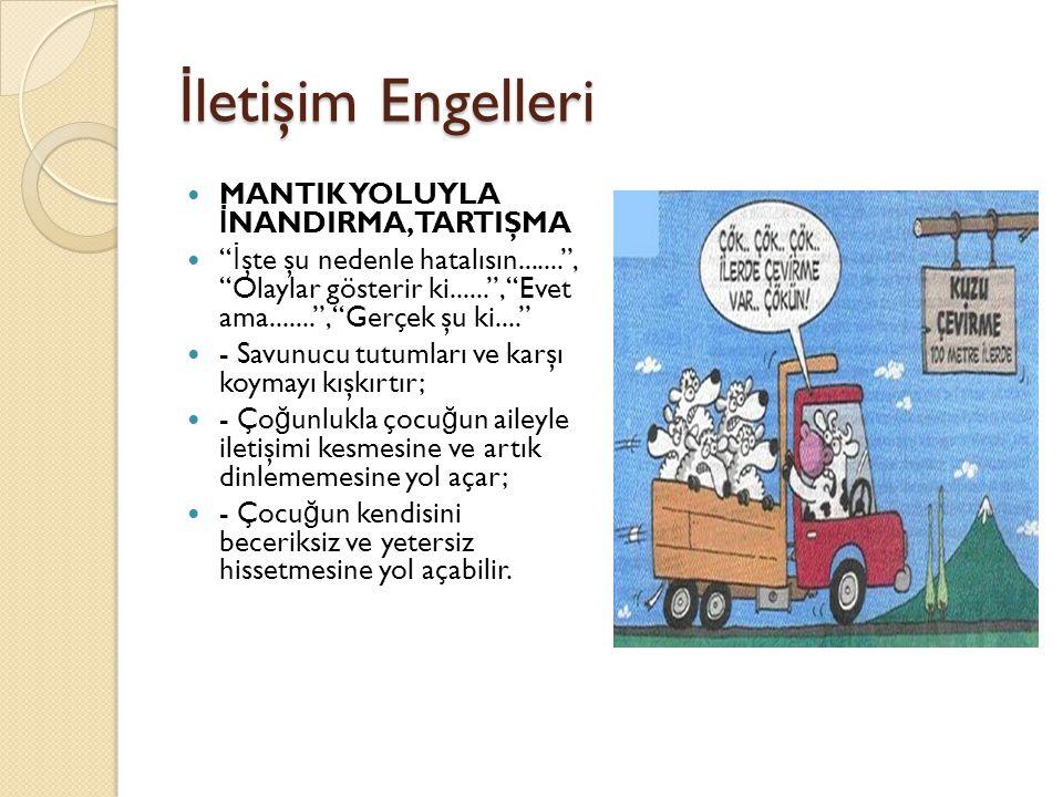 İletişim Engelleri MANTIK YOLUYLA İNANDIRMA, TARTIŞMA