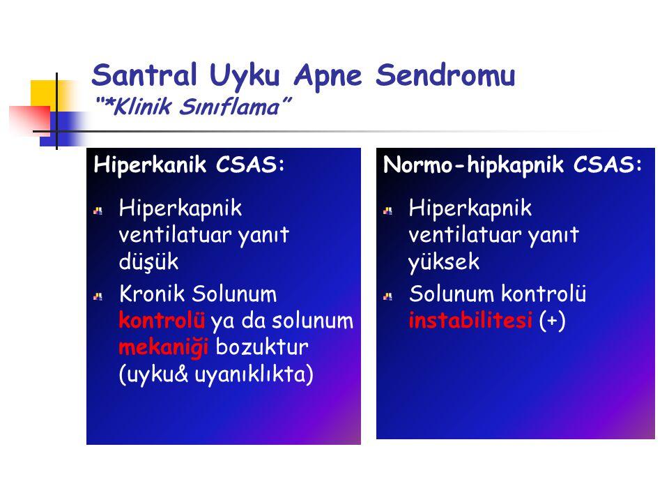 Santral Uyku Apne Sendromu *Klinik Sınıflama