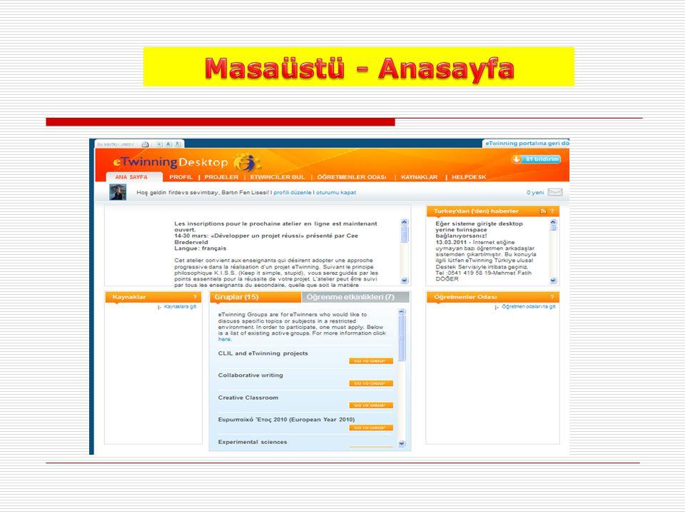 Masaüstü - Anasayfa