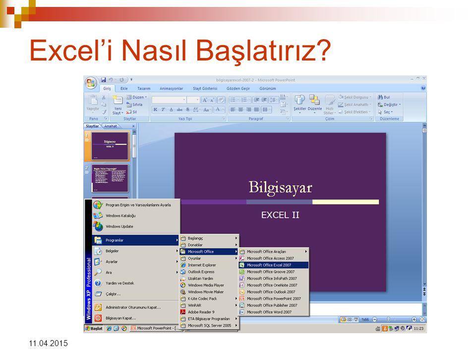 Excel'i Nasıl Başlatırız