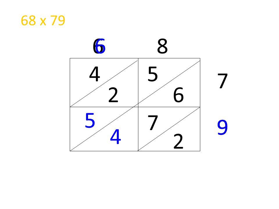 68 x 79 6 8 6 4 5 7 2 6 5 7 9 9 4 2