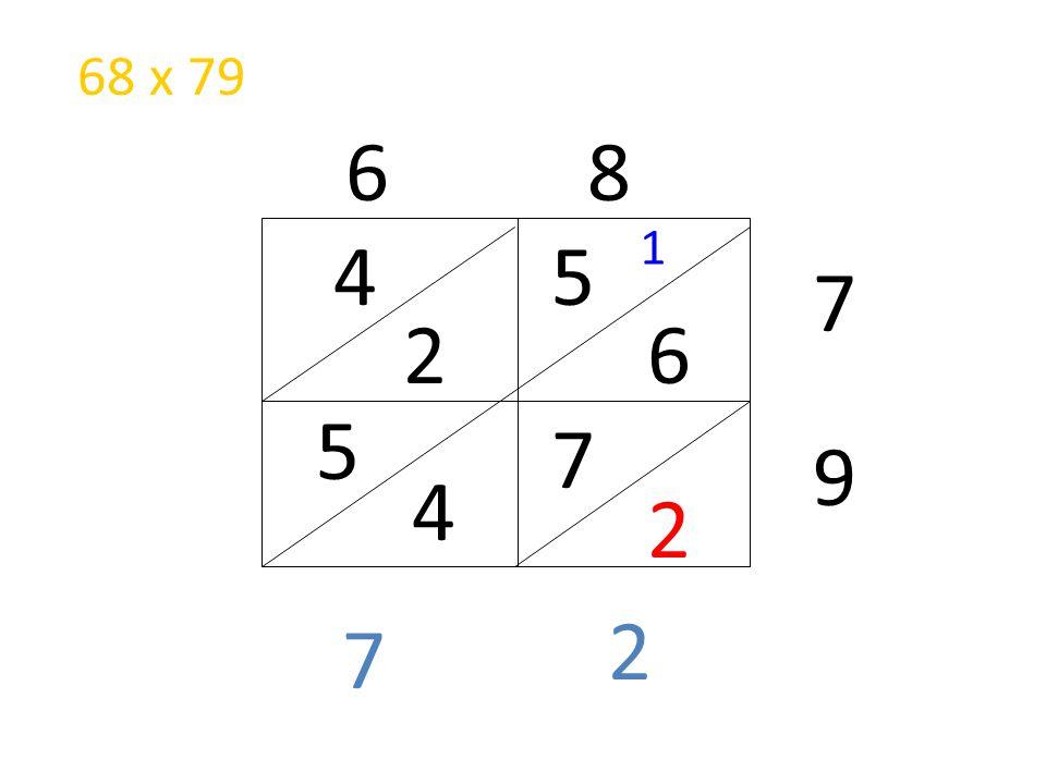 68 x 79 6 8 1 4 5 7 2 6 5 7 9 4 2 2 7