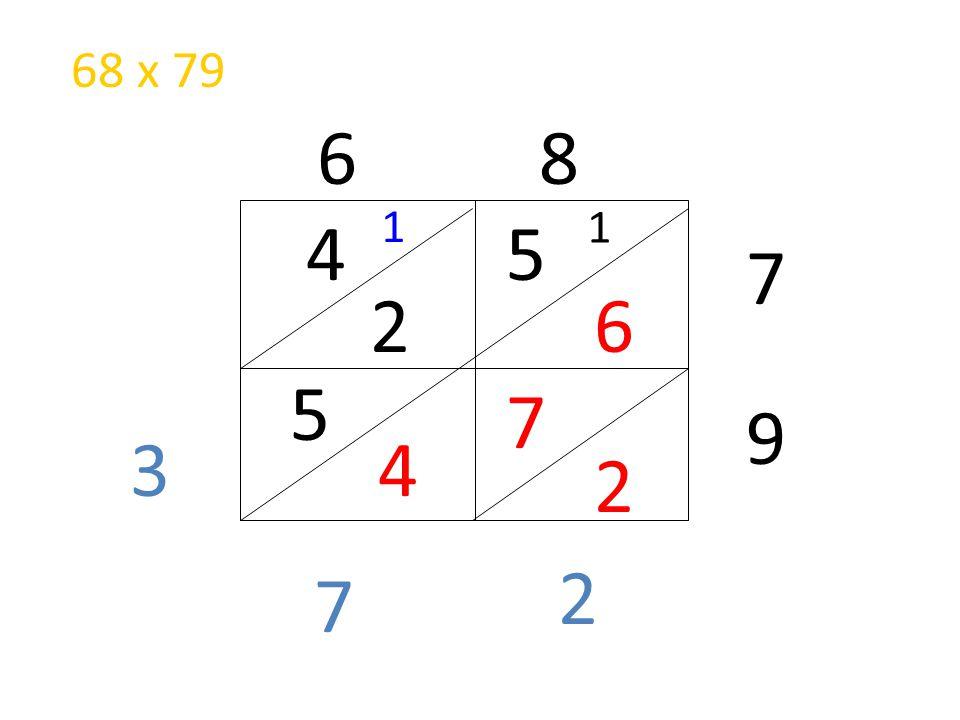 68 x 79 6 8 1 1 4 5 7 2 6 5 7 9 3 4 2 2 7