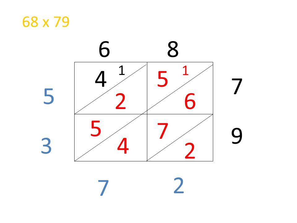68 x 79 6 8 1 1 4 5 7 5 2 6 5 7 9 3 4 2 2 7