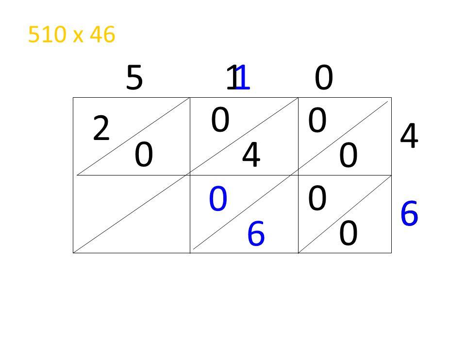 510 x 46 5 1 0 1 2 4 4 6 6 6