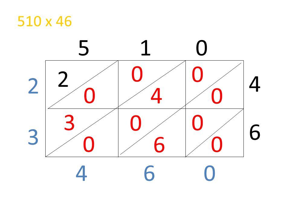 510 x 46 5 1 0 2 4 2 4 3 6 3 6 4 6