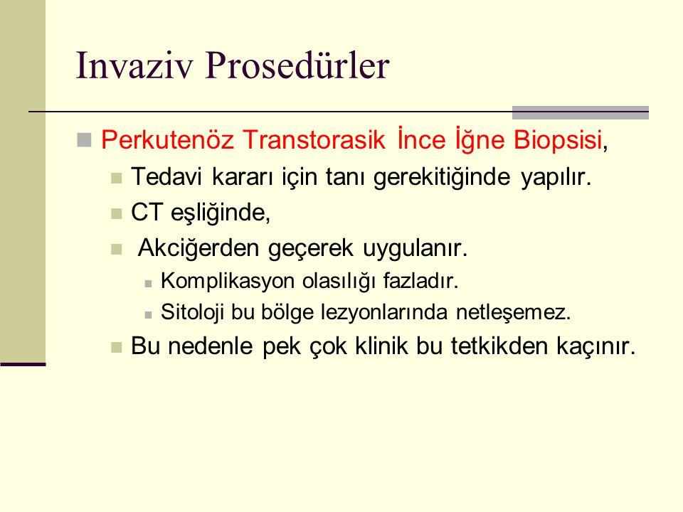 Invaziv Prosedürler Perkutenöz Transtorasik İnce İğne Biopsisi,