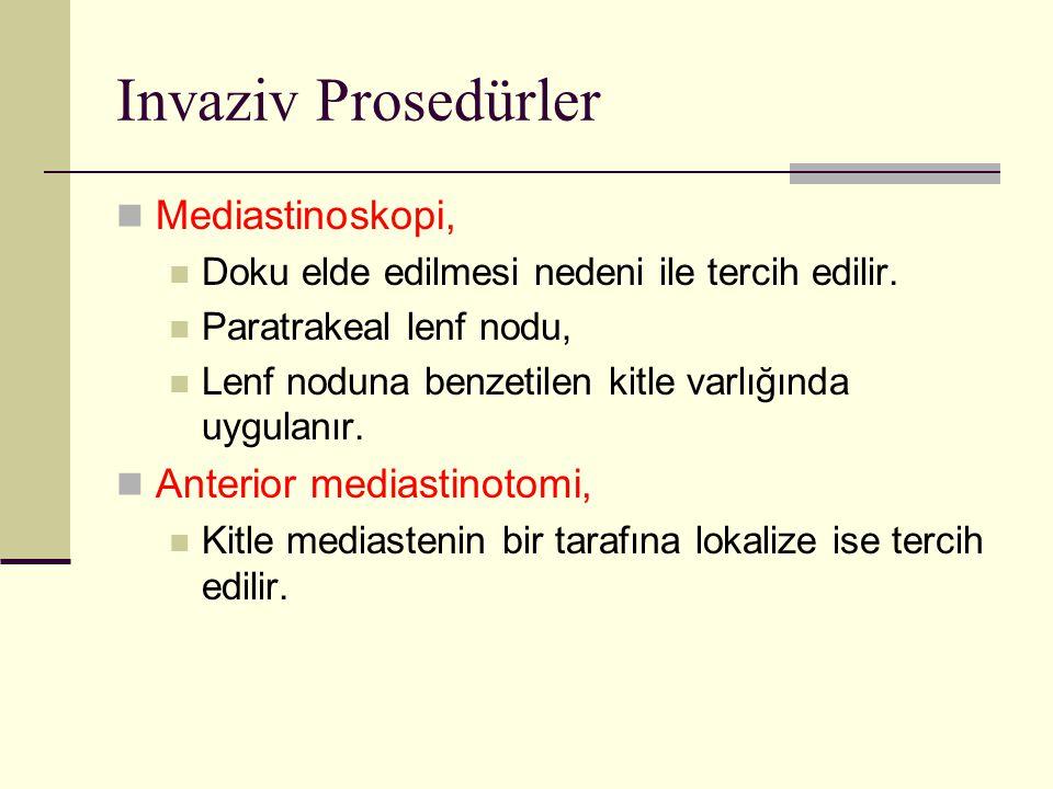 Invaziv Prosedürler Mediastinoskopi, Anterior mediastinotomi,