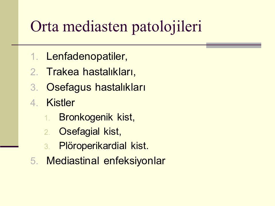 Orta mediasten patolojileri
