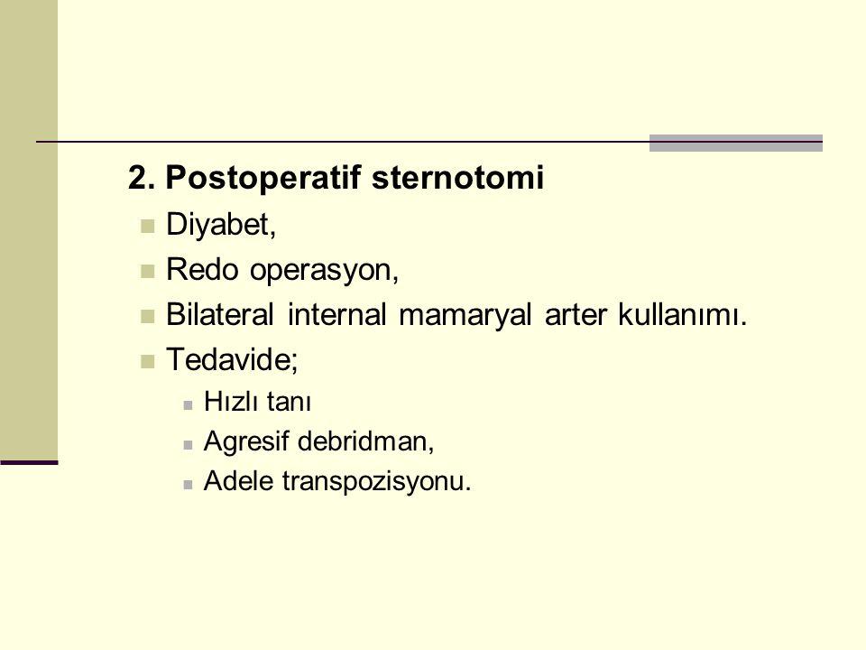 2. Postoperatif sternotomi
