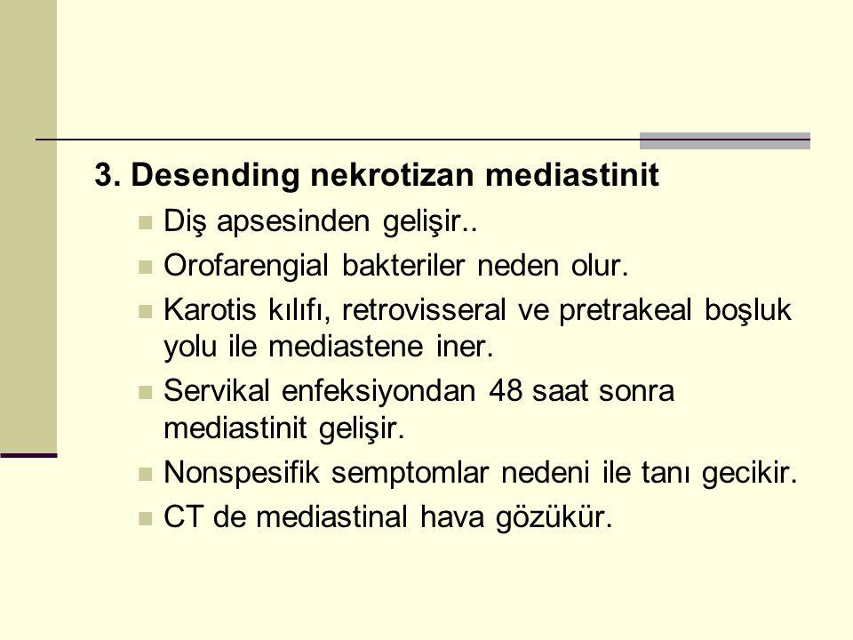 3. Desending nekrotizan mediastinit