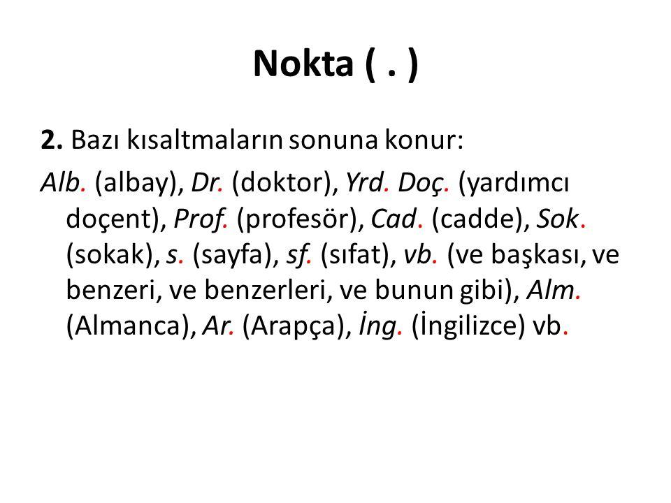 Nokta ( . )